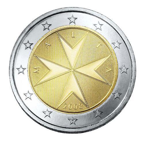 Bild zu 2-Euro-Münze aus Malta