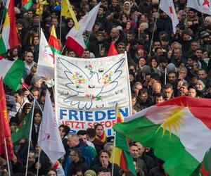 Kurden-Demo gegen türkische Militäroffensive