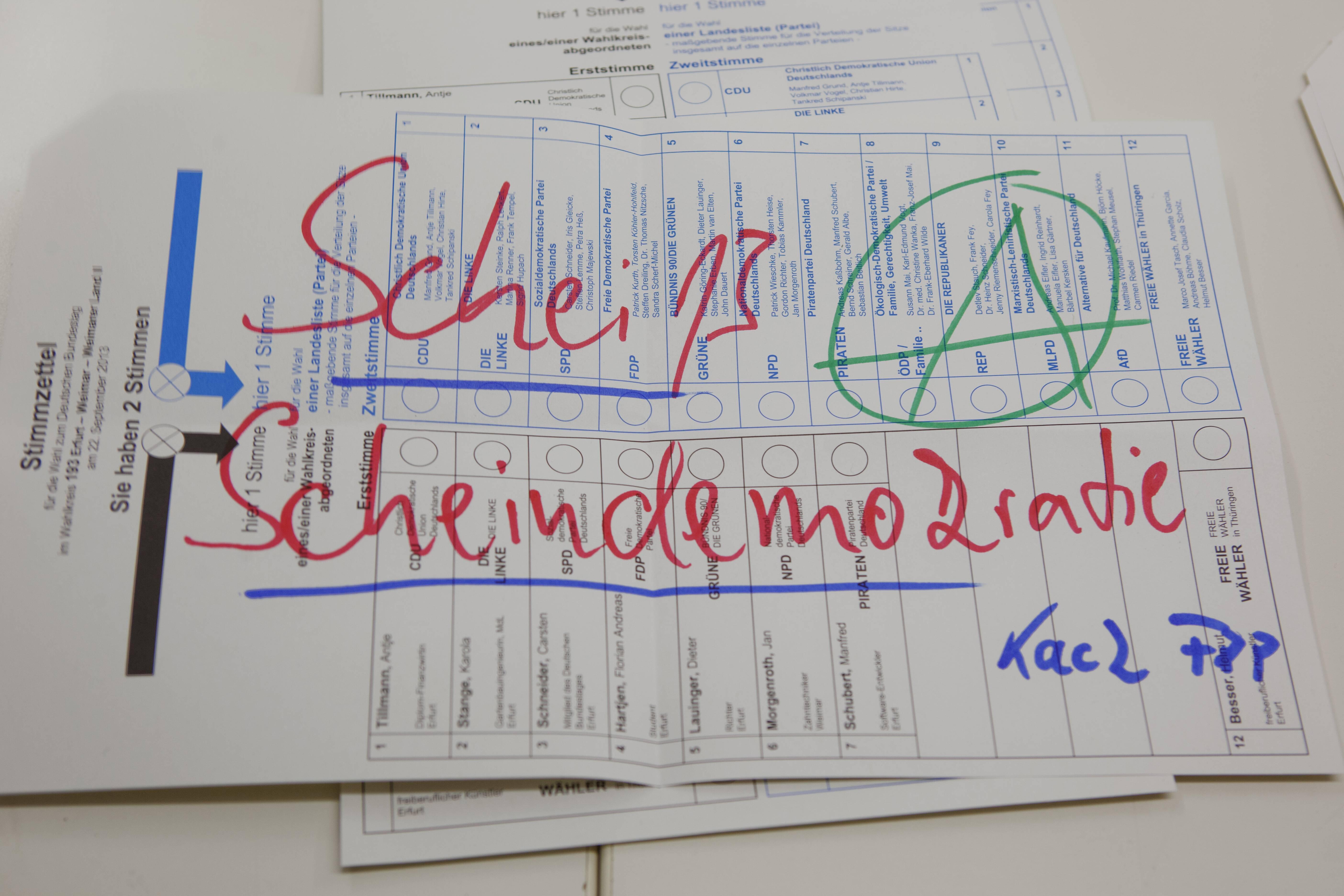 Bild zu Bundestagswahl, Erststimme, Zweitstimme, Angela Merkel