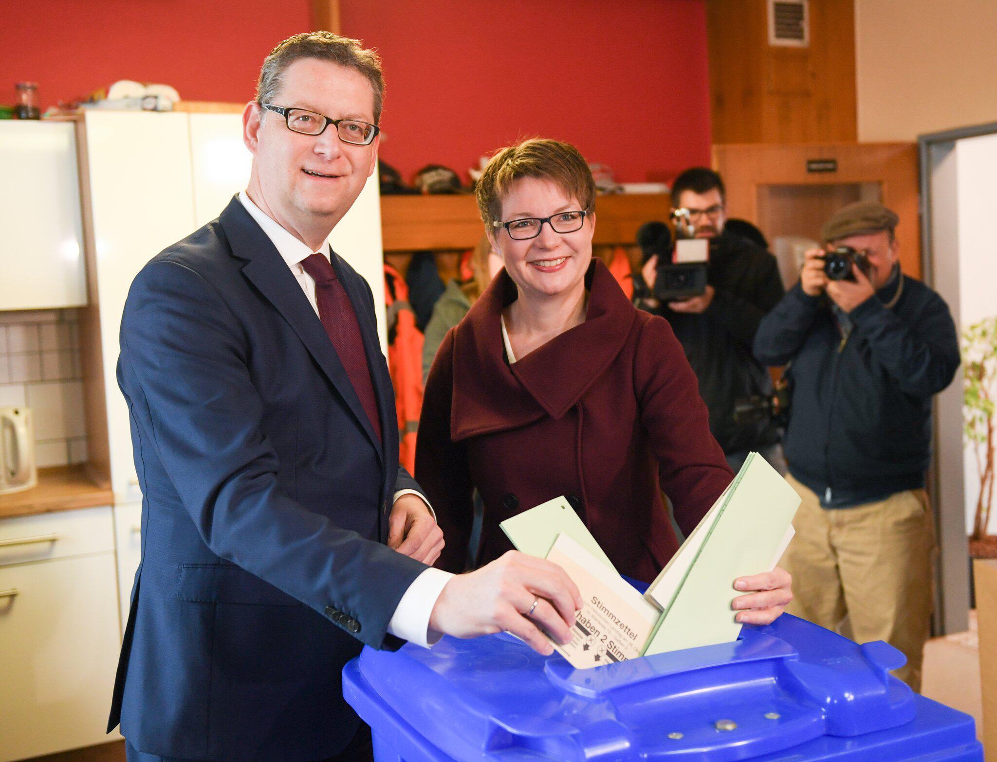 Bild zu State Parliament Election Hessen - Voting