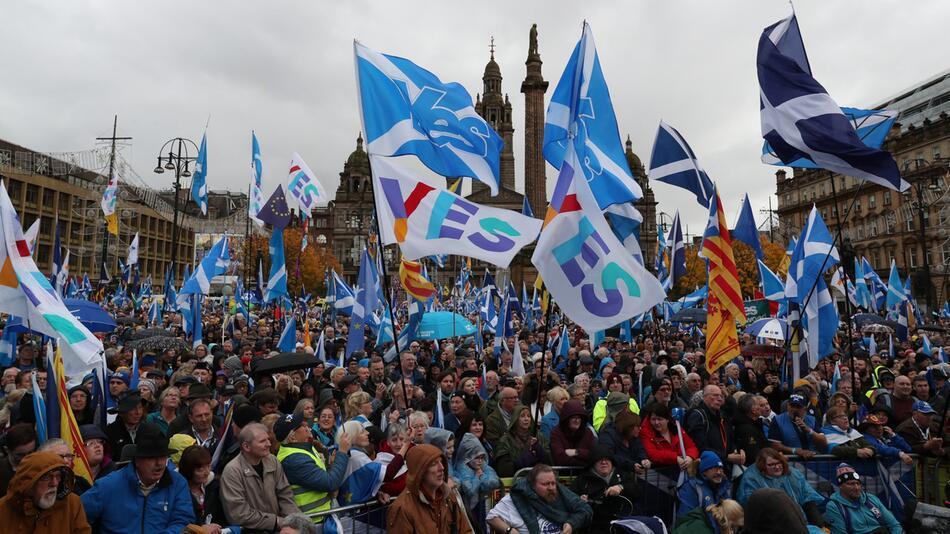 Demonstration für Unabhängigkeit in Schottland