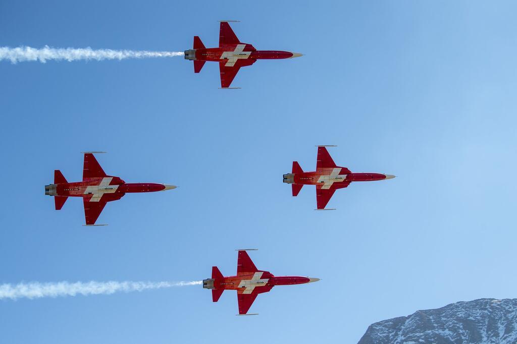 Kunstflieger der Schweizer Luftwaffe