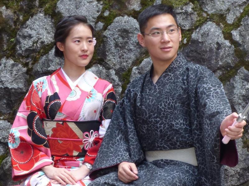 Bild zu Kimono für Selfies