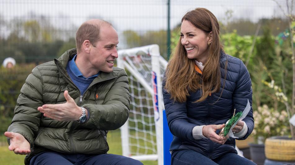 Prinz William und Herzogin Kate bei einem Charity-Projekt.