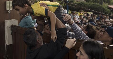 WM-Training der Brasilianische Fußballnationalmannschaft