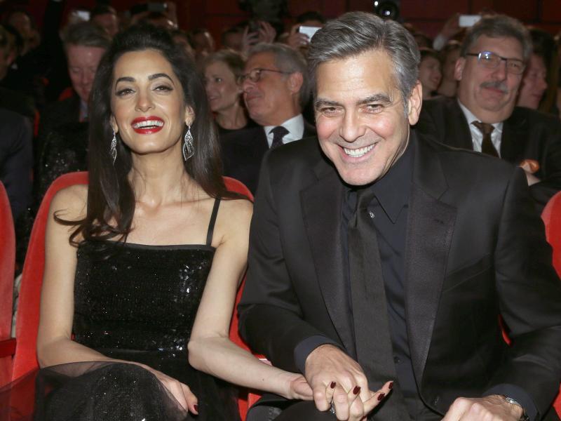 Bild zu Amal & George Clooney