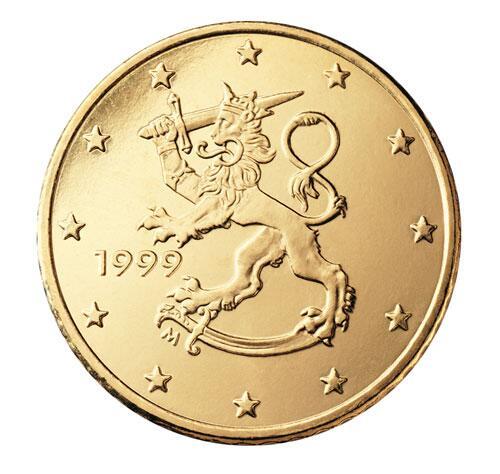 Bild zu 50-Cent-Münze aus Finnland