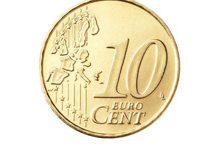 Die Vorderseite der 10-Cent-Münze