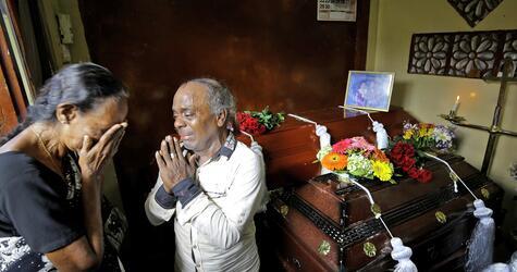 Gedenken an die Opfer der Anschläge in Sri Lanka