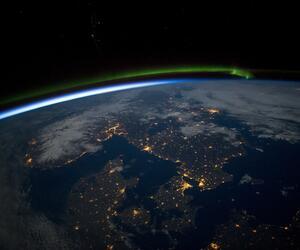 Skandinavien bei Nacht