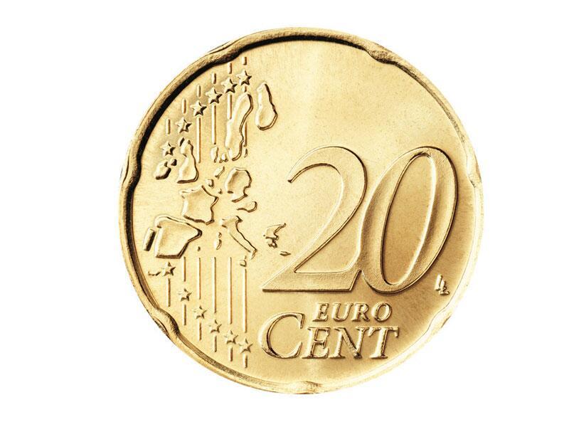 Bild zu Die Vorderseite der 20-Cent-Münze