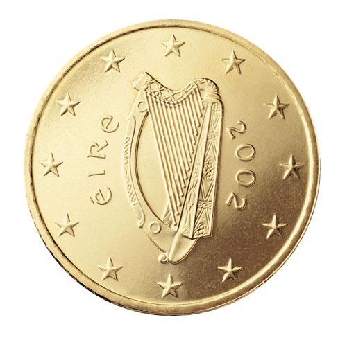 Bild zu 50-Cent-Münze aus Irland