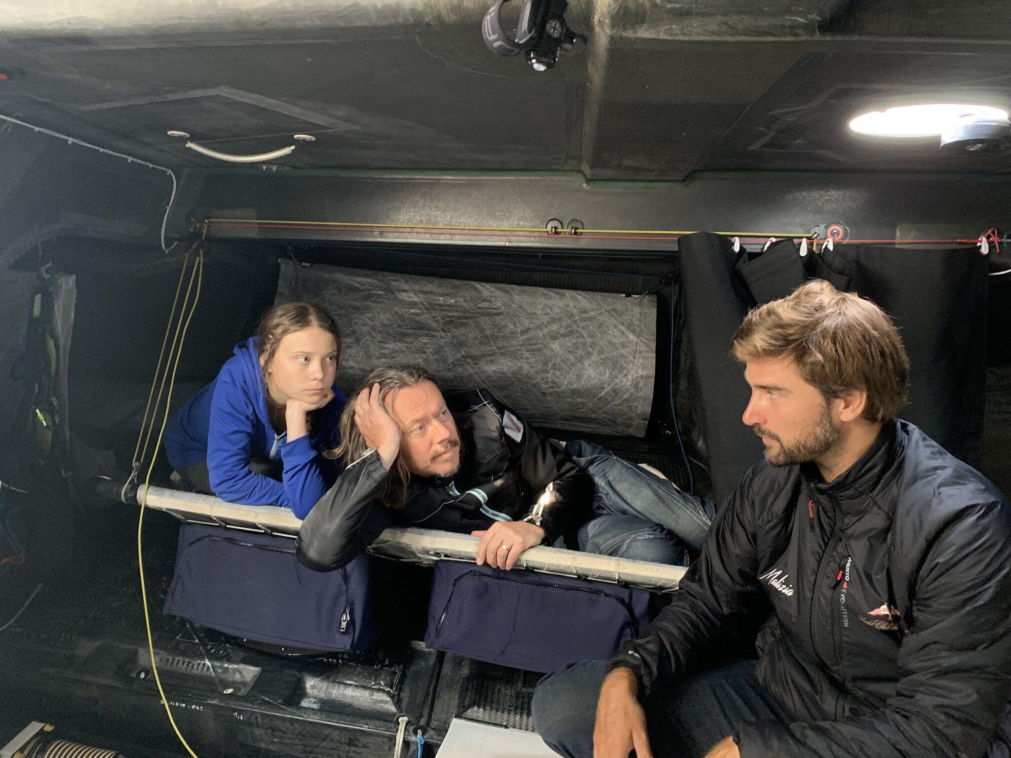 Bild zu Greta Thunberg an Bord der Malizia II
