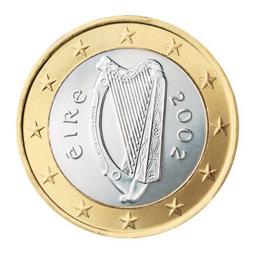 Bild zu 1-Euro-Münze aus Irland