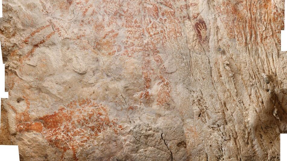 Höhlenzeichnungen aus Indonesien