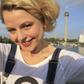 Selfie blonde Frau