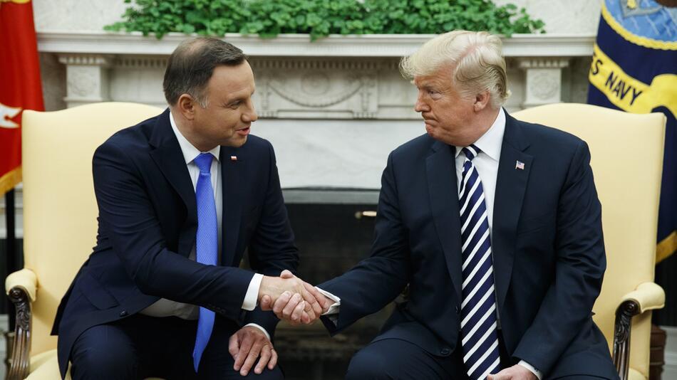 Polens Präsident in den USA