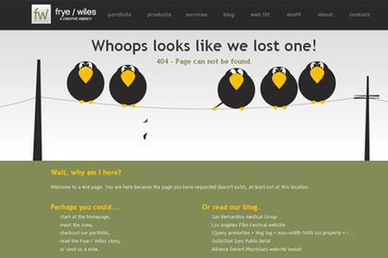 404-Fehlermeldung
