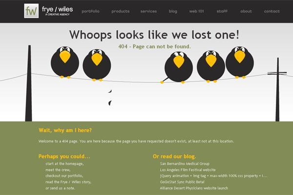 Bild zu 404-Fehlermeldung