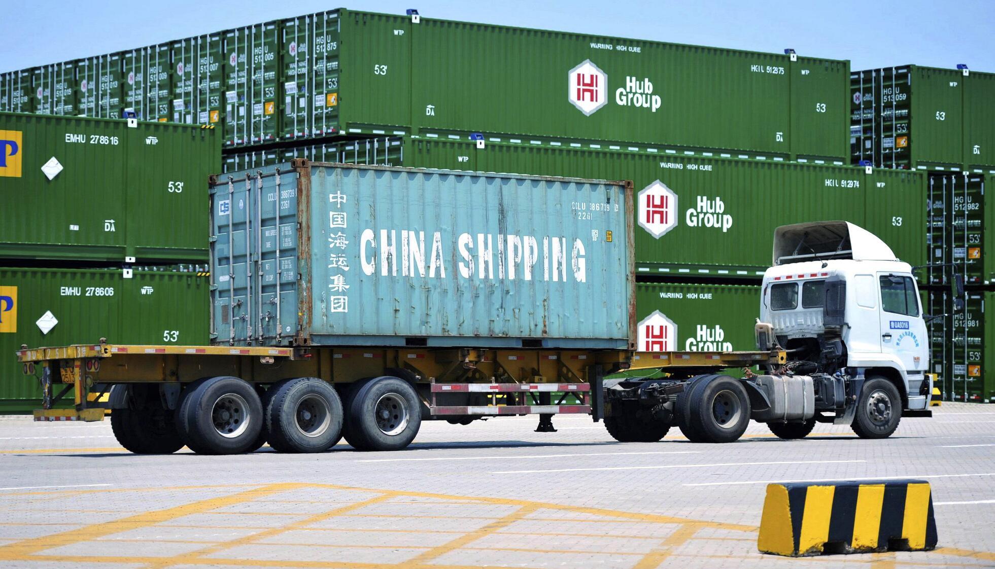 Bild zu Container im Hafen von Qingdao