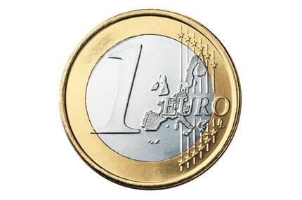 Die Vorderseite der 1-Euro-Münze