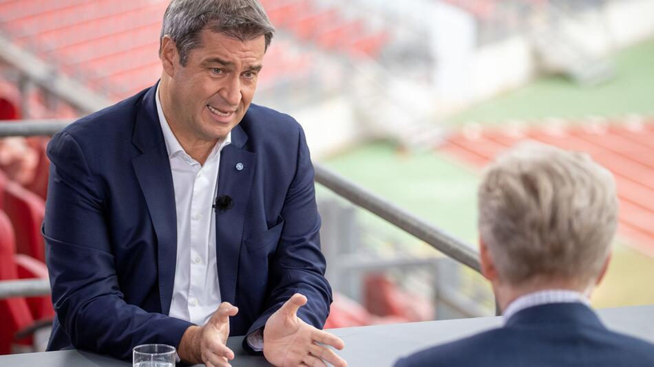 ZDF-Sommerinterview mit CSU-Chef Markus Söder