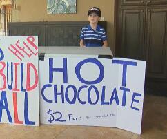 Benton Stevens, Donald Trump, Mauer, Mexiko, Junge, Texas, Verkauf, heiße Schokolade, Unterstützung