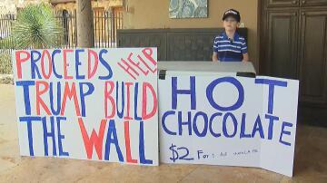 Bild zu Benton Stevens, Donald Trump, Mauer, Mexiko, Junge, Texas, Verkauf, heiße Schokolade, Unterstützung