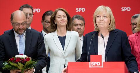 Martin Schulz Katarina Barley Hannelore Kraft