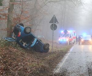 Unfall im Nebel