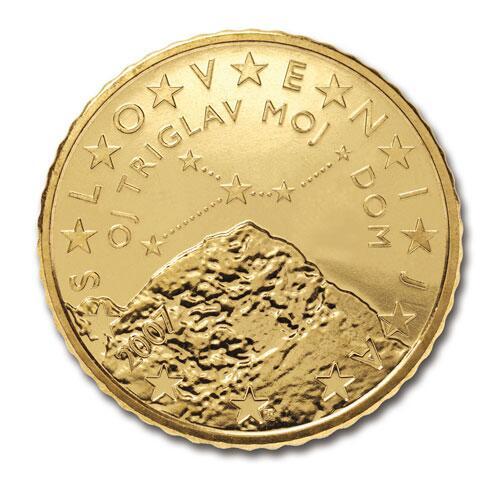 Bild zu 50-Cent-Münze von Slowenien