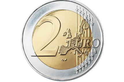 Die Vorderseite der 2-Euro-Münze