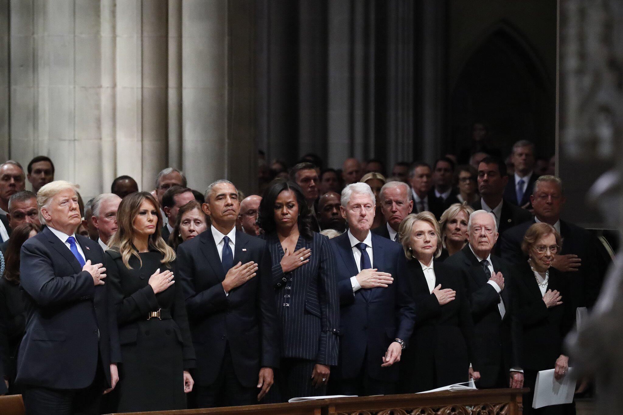 Bild zu Staatsbegräbnis des ehemaligen US-Präsidenten Bush