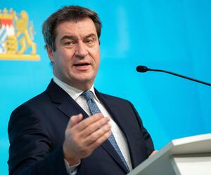 Markus Söder, CSU, Bayern, Ministerpräsident, München, Pressekonferenz, 2021