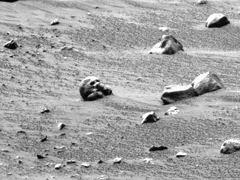 Bild zu Schädel auf dem Mars?