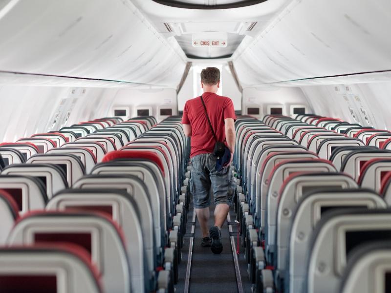 Bild zu Passagier im Flugzeug