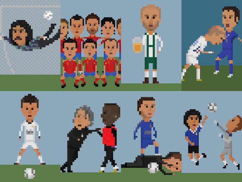 Bild zu Fußball-Historie in 8bit