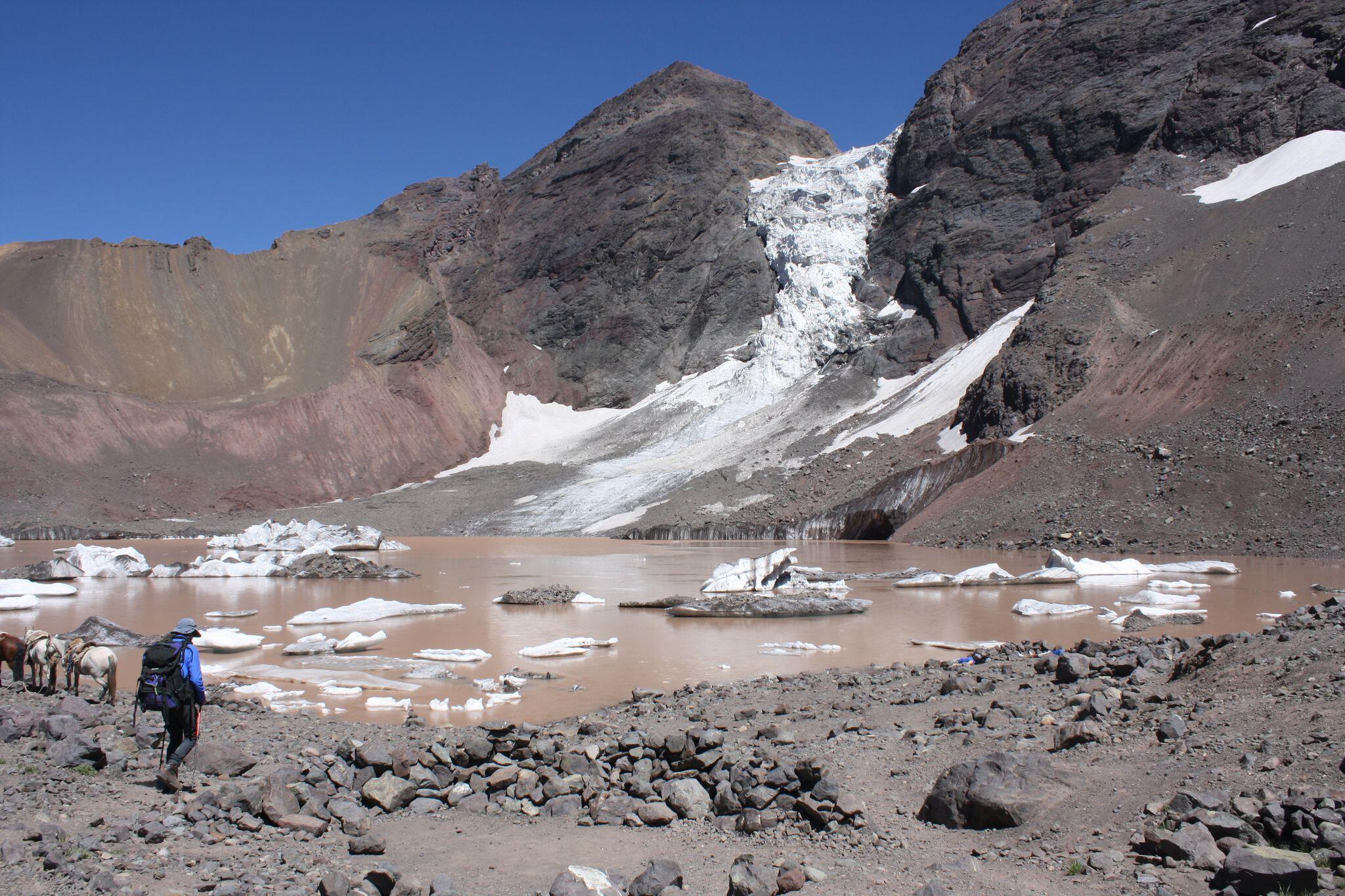 Bild zu Ein Gletschersee in Chile