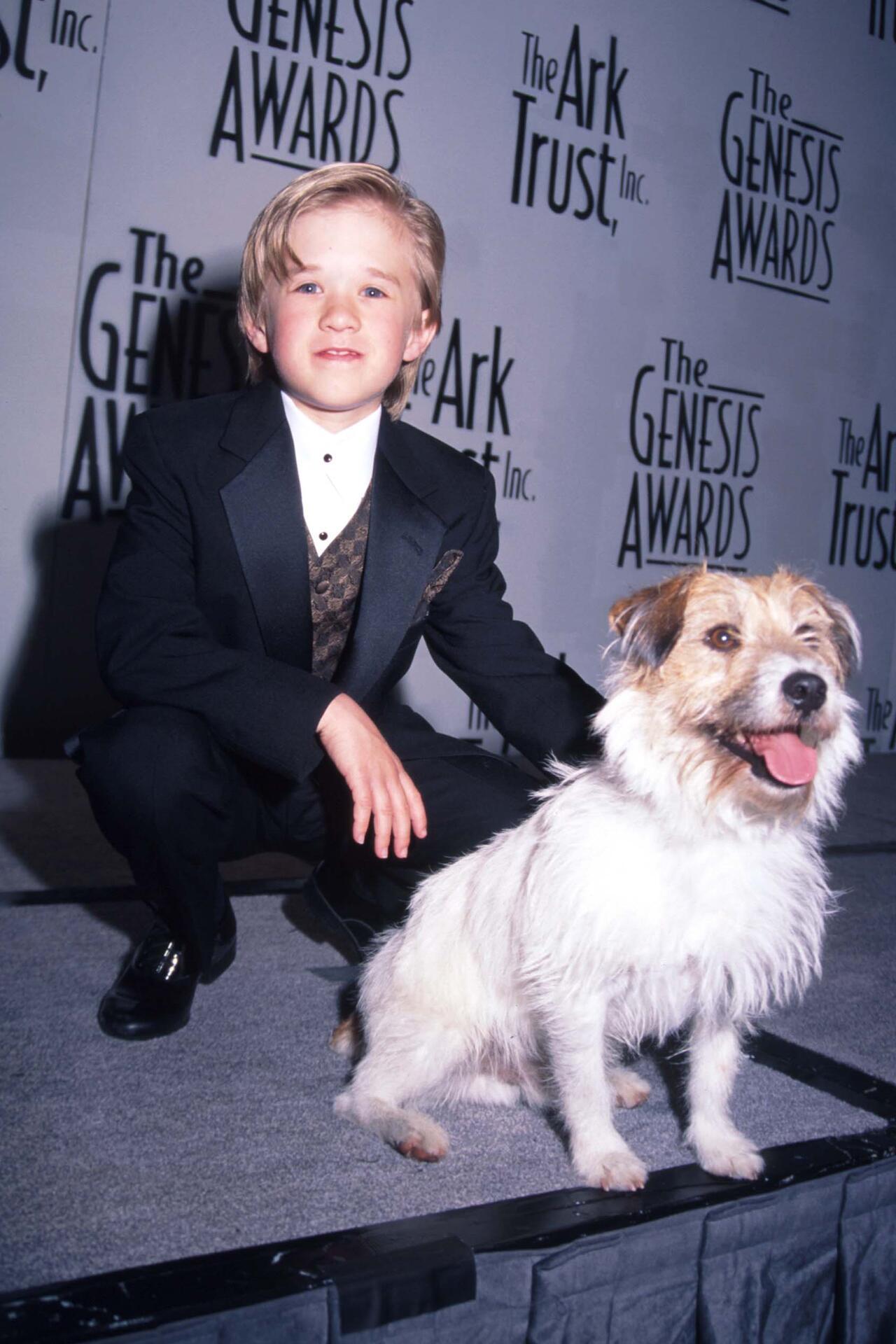 Bild zu Haley Joel Osment, Hund, Sparky, 90er