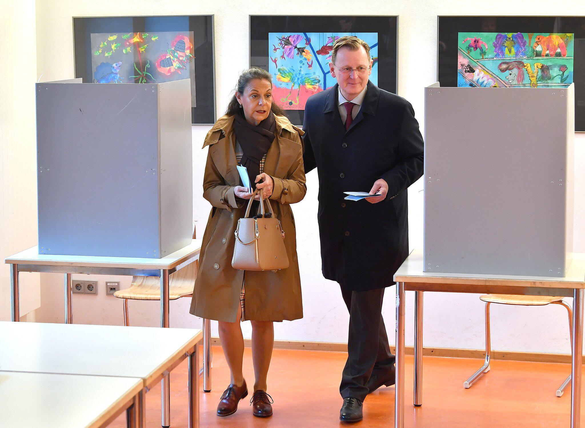 Bild zu Landtagswahl in Thüringen - Stimmabgabe