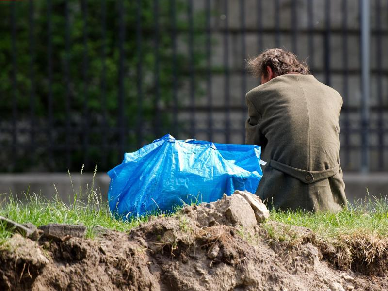 Bild zu Obdachloser