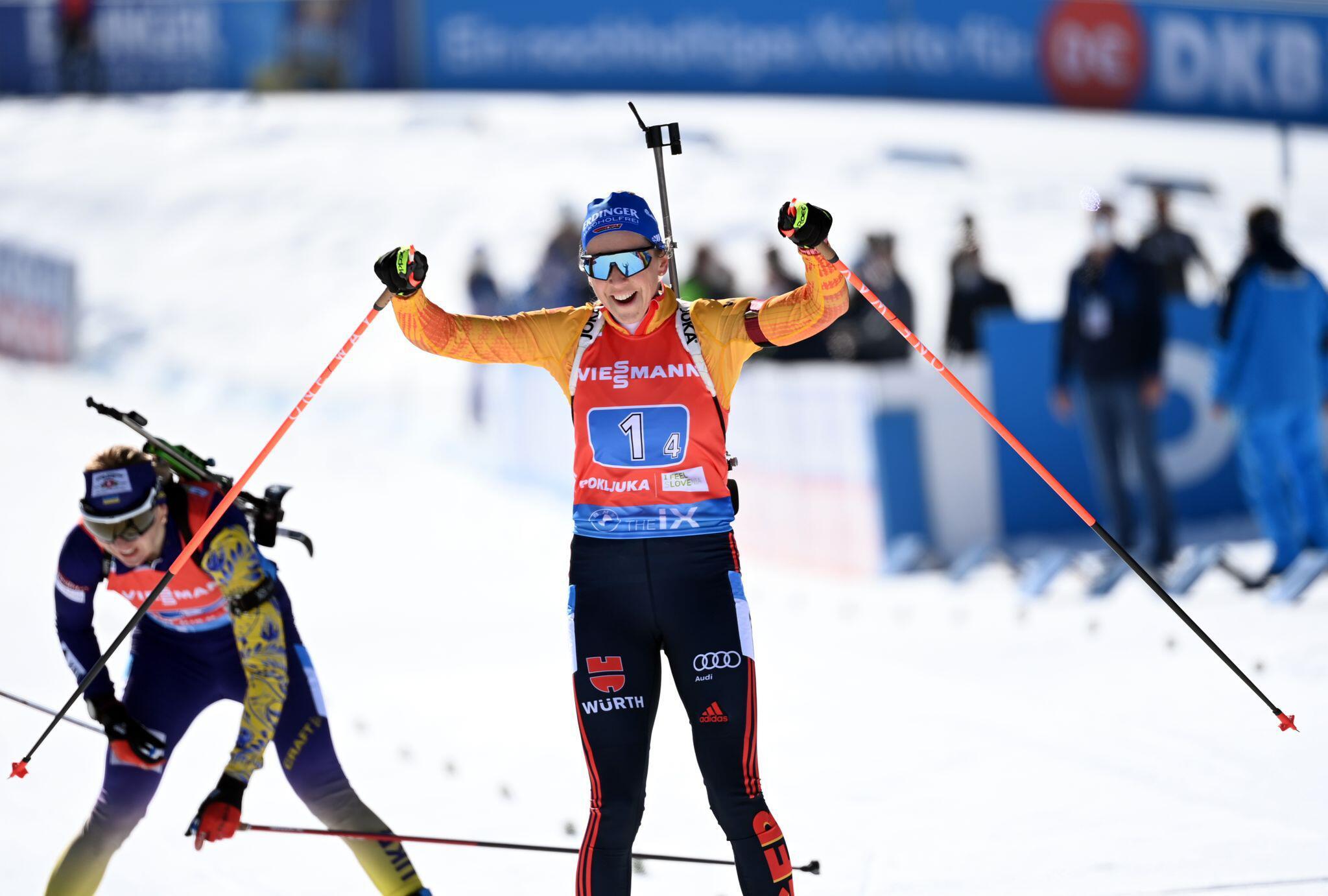 Bild zu Biathlon - Weltmeisterschaft