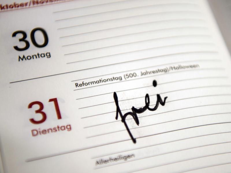 Bild zu In einem Kalender steht am 31.10. frei