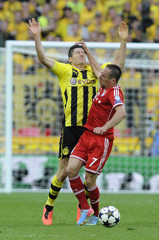 Bild zu Franck Ribery vs. Robert Lewandowski