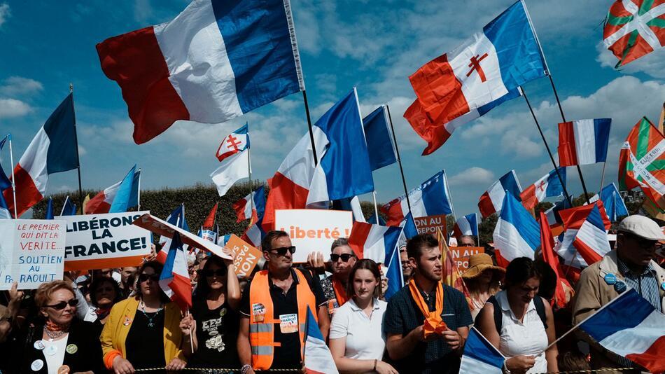 Coronavirus - Proteste in Frankreich