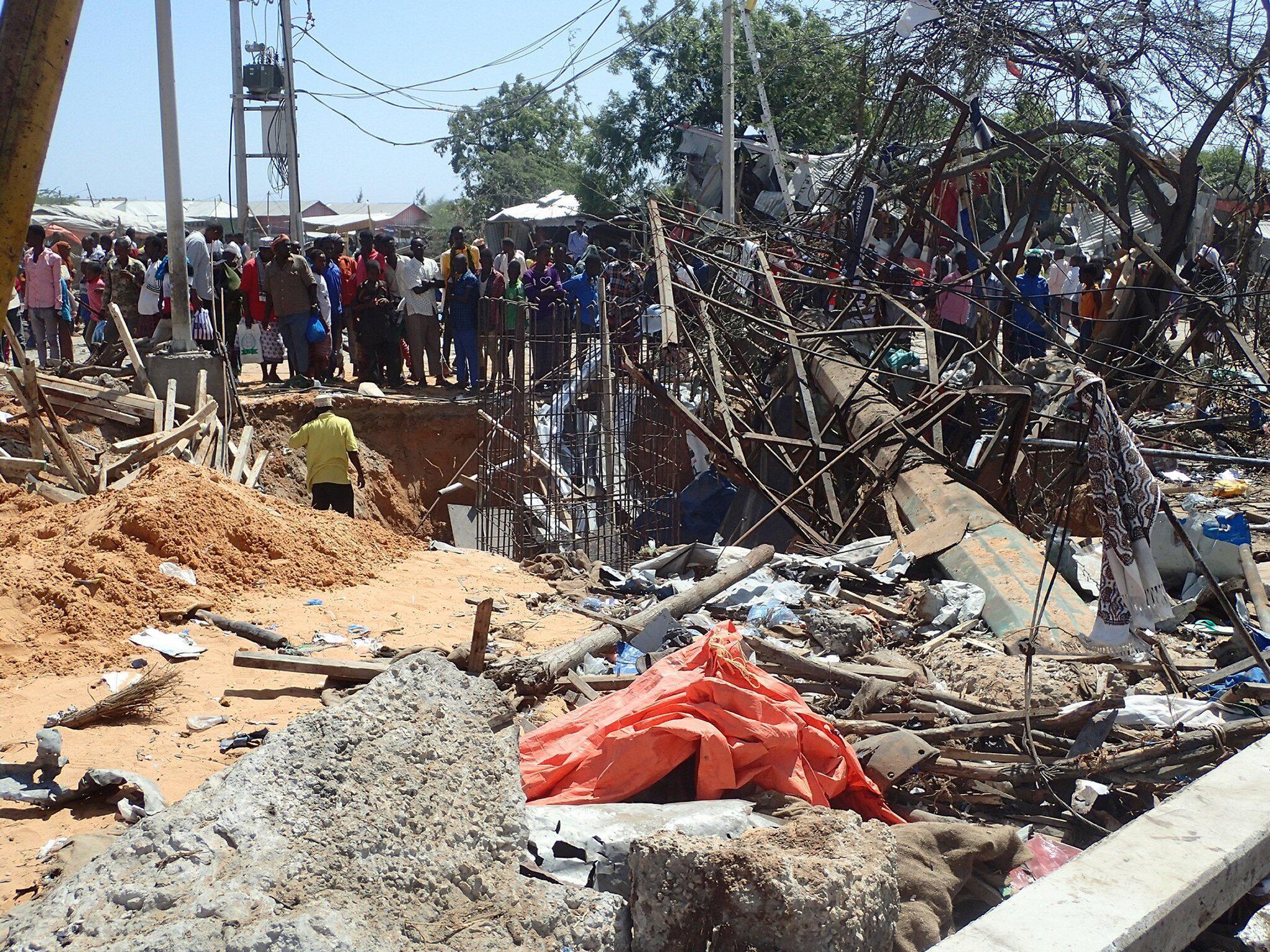 Bild zu Explosion einer Autobombe in Mogadischu