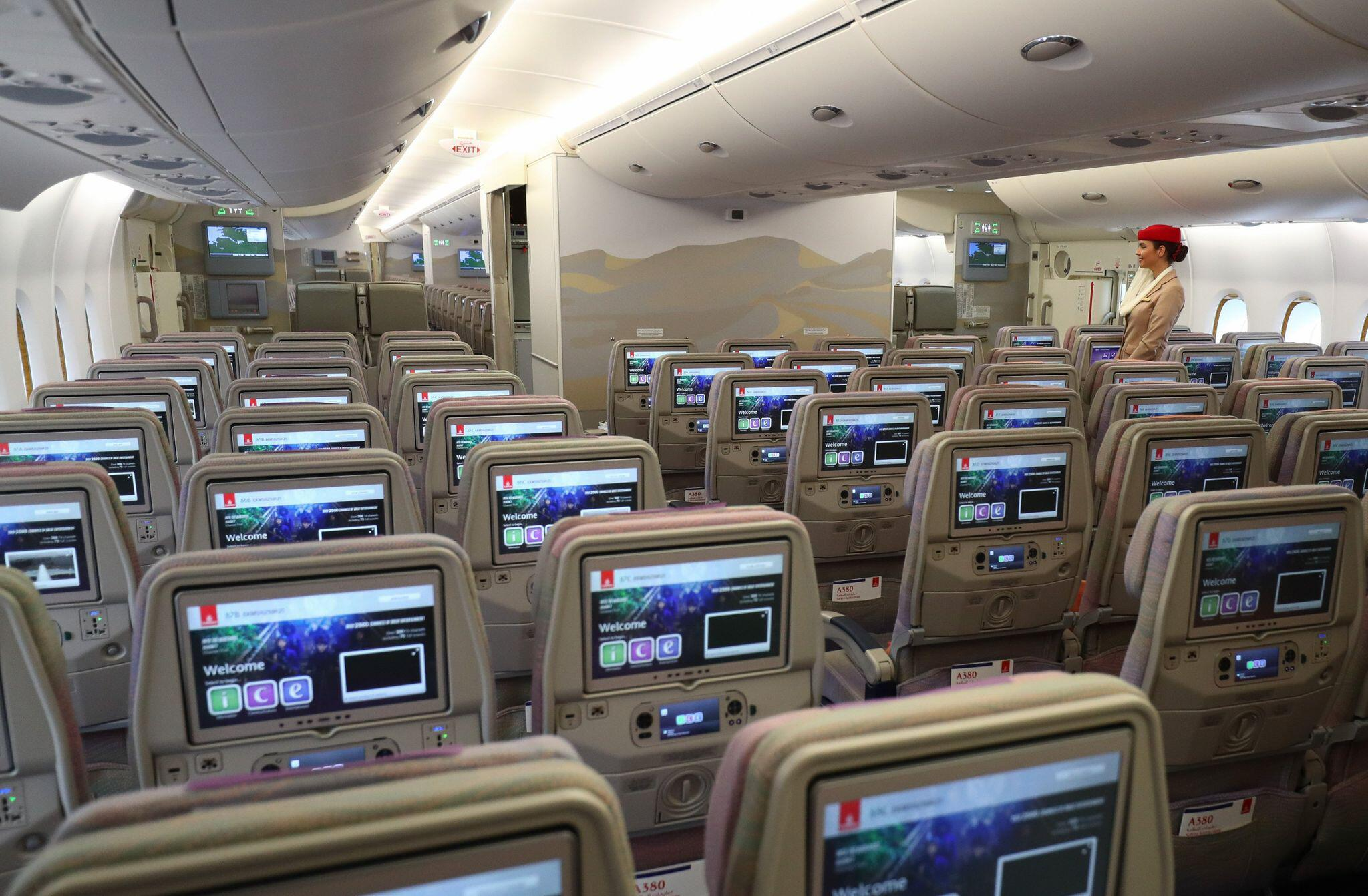 Bild zu Airbus A380 - Innenraum