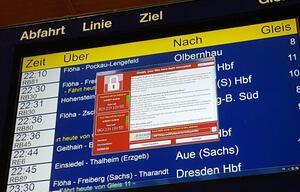 DB-Anzeige in Chemnitz