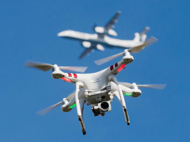 Bild zu Gefahr durch Drohnen