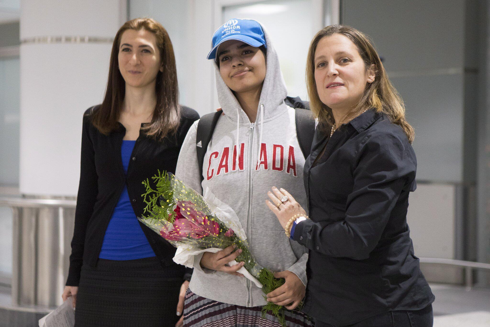 Bild zu Rahaf Mohammed el-Kunun kommt in Kanada an